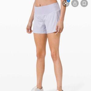 """NWT Lululemon Speed Up Short 4"""" Serene Blue Shorts"""